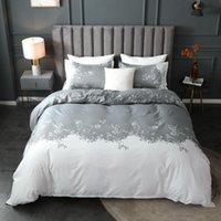 مجموعات الفراش بسيط الأزهار المطبوعة حاف الغطاء مجموعة 220X240 الشمال الرعوية واحدة مزدوجة الملكة الملك أغطية السرير (لا ورقة السرير)