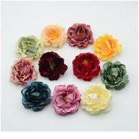 10 pz rose di seta fiori di plastica artificiale per la decorazione natalizia domestica Accessori da sposa Scrapbook Pesonie finte FAKE DIY WREA Jllveb