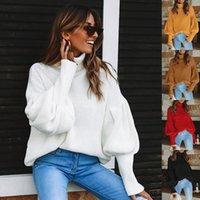 Женские свитера LeoSoxs 2021 Autumen Winter Turtleneck Держите теплый свитер мода повседневная свободная твердая фонарь рукава женские вязаные