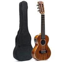 "28 ""Concerto Mini Guitalele Acoustic Guitalele con EQ Handcraft Acacia Wood w / Borsa in spugna"