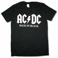 T-shirts AC / DC Tillbaka i svart amerikansktur 2021 Rock Men T Shirt