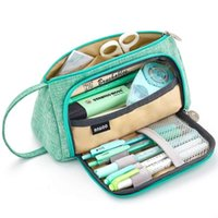 School Bags Big Capacity Colored Pencil Bag Storage Pouch Marker Pen Case Stationery Holder For Middle High Office College Student