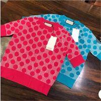 Мода женский свитер роскошный классический чистый цвет буква шаблон вязаные вершины осень зимние дизайнерские свитера мужские женские джемпер ропа де мюджер