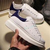 Zapatos casuales de cuero blanco de la moda para hombre para las mujeres de la muchacha de la zapatilla de deporte de deportes plana de oro negro de color negro 35-45 con caja