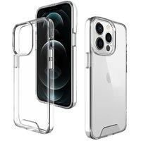 Premium Space Transparent Rugged Clear Phone Cases For iPhone 13 12 11 Mini Pro Max X XS 8 7 Plus TPU PC Shockproof Hard Cover With Retail Box