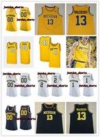 NCAA Özel Michigan Wolverines Iggy Brazdeikis Basketbol Jersey Isaiah Nehirleri Zavier Simpson Charles Matthews Poole Michigan Formalar