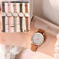 Mens Watches Luxury Watch Women Simple Vintage Small Dial Sweet Leather Strap Outdoor Sports Wrist Clock Gift