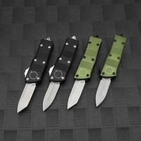 Mini Alüminyum Kolu D2 Blade Katlanır Bıçak Taktik Survival EDC Kamp Avcılık Açık Mutfak Aracı Askeri Anahtar Yardımcı Programı Otomatik Bıçaklar Noel Hediye
