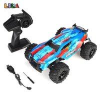 LBLA C14 1:14 RC Carro 25km / H 2WD 4CH 2.4GHz Remoto Controle Rainler Racing Off Veículos de Estrada Caminhão Kids Brinquedos Presentes para crianças 210729