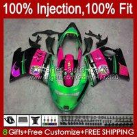 Iniezione del corpo per Honda Blackbird CBR 1100 1100xx Shark Green CBR1100 XX 96 97 98 99 00 01 26NO.113 CBR1100XX 2002 2003 2004 2005 2006 2007 CBR 1100CC 96-07 FARI