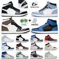 Jordan's Jorden 1 1s Air Jordan Jordan1s Retro Jumpman Basketball Shoes Men Women University Blue Marina High OG Dark Mocha TObsidian Mid Carbon Fiber Dutch Green Seafoam Trainers