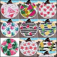 Textiles Home & Gardenbeach Watermelon 3D Pattern Print Round Tassel Soft Swimming Towel Bath Chair Er Picnic Blanket Custom Design Drop Del