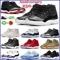 Bred 11 11s Mens Basketball Shoes Concord cappello e abito Heiress Space Jam Uomo Donna formatori alta Sneakers XI Snakeskin Designer Shoes