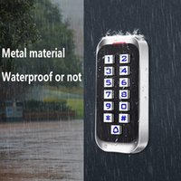 Fingerprint Access Control H3 Durable Metal Password ID Version Door Entry System Kits For Standalone Keypad Code Reader