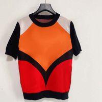 Femmes tricot Pull Instr contrasté de mode chaude Couleur Modèle de lettre Créville Coluré Coluré Pull Casual Pull Sleeve Sleeve