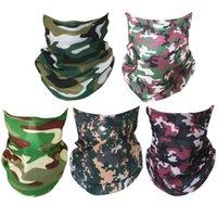 5 UNIDS Camuflaje de cabeza sin fisuras Cabeza multifunción Pañal Unisex Diadema Moda Cabeza Bufanda para el ciclismo de senderismo de yoga (STY REAT STY