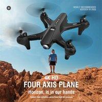 Drones drone 4k enfants et adultes mode extérieur jouets quadricoptter hd double caméra pographie aérienne sac de rangement pliable