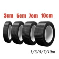 Carbon Fiber Protector Strip Sticker Auto Bumper Door Sill Protection Anti-Stepping Car Decoration Tape 3 5 7 10m