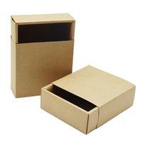 Regalo Wrap 10 unids Classic Kraft Papel Cartel de cartón cajón de embalaje Big Square Candy Hecho a mano Pasteles DIY Cajas de almacenamiento