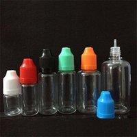200 stücke Leere E flüssige Nachfüllbare Flaschen 3ml 5ml 10ml 15ml 20ml 30ml 50ml PET-Kunststoff-Troppfe-Flaschen mit kindersicheren Kappen T200819