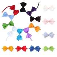 Pet Apparel Adjustable Dog Bow Tie Dog Tie Collar Flower Accessories Decoration Supplies Pure Color Bowknot NecktieT2I52419