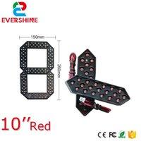 """10 """"Red Green Giallo e White Color Module 7 Segmento LED Display LED Numero modulo Gas / Olio / Stazione di servizio Segnali prezzi"""