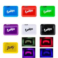 Cookies Runtz Backwoods California Glowtray Blue Red Green Yellow LED Rolling Glow Tray for Rolling 420 Dry Herb Flower With Box Wholesale
