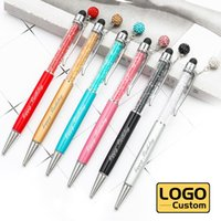 Ballpoint Pens Diamond Pendant Pen Crystal Metal Gift Touch Screen Capacitive Customized LOGO Lettering Engraved Name Office Supplies