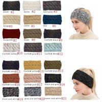 CC Fairband Красочный вязаный крючком вязание крючком повязки зимнее ухо теплые эластичные волосы широкие волосы аксессуары для дам или девушек