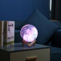 3D Druck Mondlampe Galaxy Mond Licht Kinder Nachtlicht 16 Farbwechsel Berührung und Fernbedienung Galaxie als Geschenk