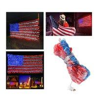 420 LED 6.5ft*3.3ft American Advanced Flag String Lights Outdoor Lighted USA Not Waterproof IP44 Strip light usalight