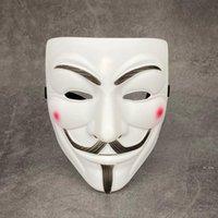 Máscara em forma de V Chapeamento de máscara grossa com delineador PVC Proteção ambiental máscaras pretas para o traje de Halloween Cosplay FWF8457