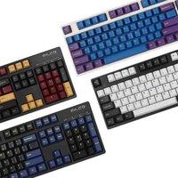 JKDK 166 Keys Profilo di ciliegio Keycap Double S Spessa PBT KeyCaps per MX Switch Keyboard meccanico 210610