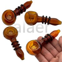 Glass Pipes Smoking Hookah Tobacco Glass Spoon Pipe Colored Mini Glass Pipe Small Hand Pipes For Oil Burner Dab
