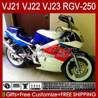 Cuerpo brillante blanco para Suzuki RGV250 SAPC VJ22 RGV-250 Panel 1990 1991 1992 1993 1994 1995 1996 20HC.49 RVG250 VJ 22 RGVT-250 RGVT RGV 250CC 250 CC 90 91 92 93 94 95 96 Carreyo