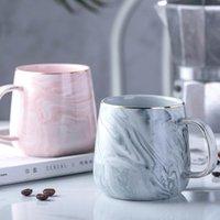 Mugs Creative European Phnom Penh Milk Coffee Marble Pattern Breakfast Water Mug Office Home Drinkware Tea Cup Lover's Gifts