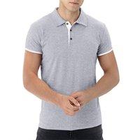 Мужская рубашка 3 цвета летние мужские деловые повседневные вершины сплошные цвета с коротким рукавом рубашка мужская рабочая одежда воротник поло