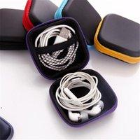 Colorful PU Zipper Bag Auricolare Cable Mini Box SD Scheda SD Portatile Portatile Borsa Cursale Borsa per cuffia per portatura Pocket Case Custodia DWD10817