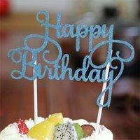 بريق عيد ميلاد سعيد العلم كعكة توبر الديكور حزب تفضل ملصق ديكور بانر بطاقة عيد ميلاد كعكة التبعي G1036 167 S2