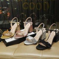 2021 new women's shoes luxury designer high-heeled sequins casual fashion sandals banquet wedding street sexy slim professional comfort