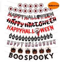 Хэллоуин баннер вытащить флаг призрак фестиваль вечеринка летучая мышь тыква череп украшения бумаги игрушки