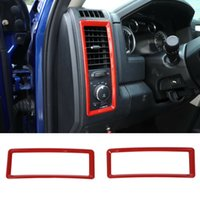 Condizionatore di aria rossa Vent Outlet Cover Frame decorativo 2pc per Dodge RAM 2010-2017 Accessori interni auto