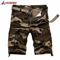 Camouflage Camo Cargo Shorts Hommes 2021 Summer Casual Coton Loose Baggy Pantalons Multi Poche Streetwear Army Short 29-44