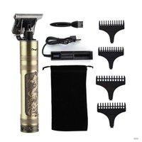 T9 Saç Düzeltici Kuaför Saç Kesimi Şarj Edilebilir Saç Kesme Akülü Erkekler Saç Kesme Makinesi Sakal Giydirme 0mm Razor Tıraş Makinesi 16-13