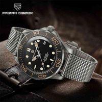 Pagani Design 007 - Orologio meccanico di lusso da uomo, cinturino automatico, cintura a maglia, impermeabile, Giappone, NH35, nuovo di zecca