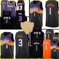 Devin 1 Booker Jersey Chris 3 Paul-Trikots Steve 13 Nash Retro Mesh Basketball S-XXL Black Purple White Herren Kinder