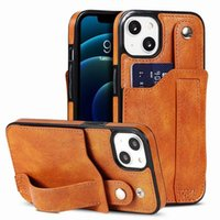Wristband Wallet Phone Cases For Iphone 13 11 12 Pro Max Xr Xs 7 8 Kickstand PU Leather Card Pocket Protective Cover Shell