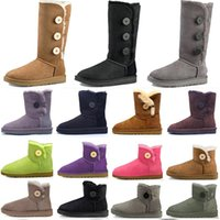 2021 Mulheres Mulheres Austrália Botas Australianas Inverno Neve Furry Cetim Boot Botas de Tornozelo Couro de pele de pele ao ar livre sapatos # 25hj