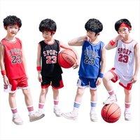 Student Football Uniform Tracksuit Set Baby Sport Jerseys Kids Boys Team Basketball Jersey Suits Soccer Clothes