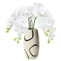 اكاليل الزهور الزخرفية 1 قطعة بو فراشة الأوركيد الاصطناعي اللمس الحقيقي العثة للمنزل حديقة الجدول زخرفة زفاف مهرجان الديكور